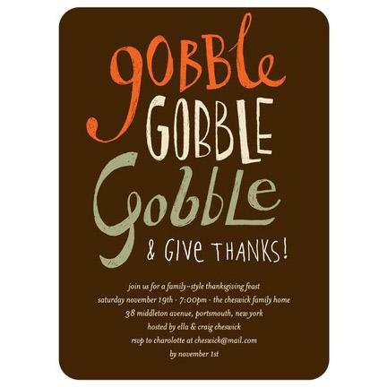 Gobble Gobble Invitations