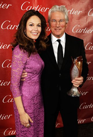 Diane Lane and Richard Gere at the 24th Annual Palm Springs Film Festival Gala on January 5, 2013.