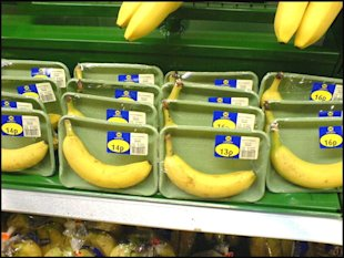 Odd banana packaging