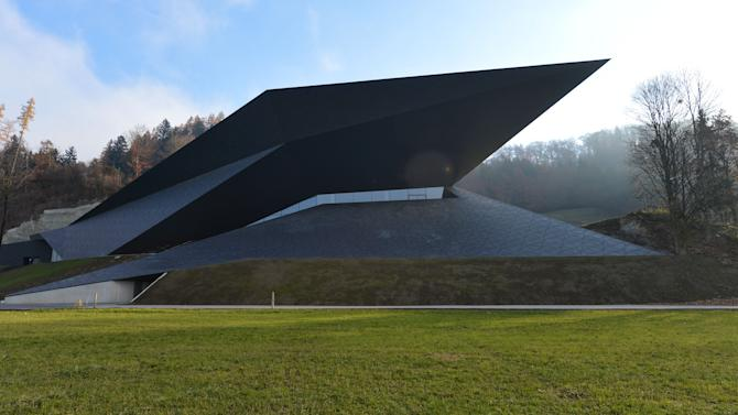 Outside view of the new concert house in Erl , Austria, photographed Tuesday Nov. 20, 2012. Officials in the Tyrolean town of Erl have officially inaugurated the futuristic concert house that will house Austria's newest music festival, adding to the county's rich palette of classical music events. Erl already has a summer music festival, along with bigger events in Salzburg, Bregenz, and elsewhere. But the new building will also be home to a winter festival that takes place for the first time from Dec. 26 through Jan. 6. Festival director Gustav Kuhn told the Austria Press Agency Tuesday that he expects the winter fest to be 90-percent sold out.  (AP Photo/dapd/ Kerstin Joensson)