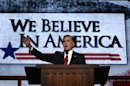 Republican presidential nominee Mitt Romney accepts the nomination during the final session of the Republican National Convention in Tampa
