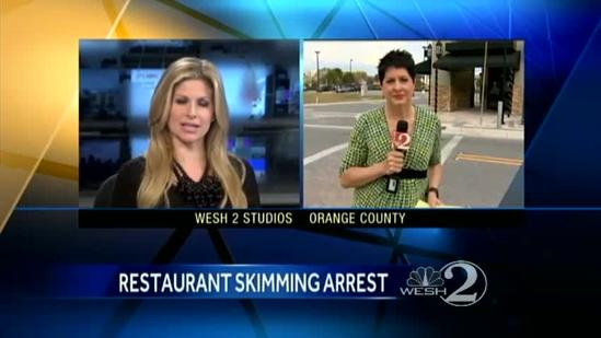 Restaurant employee accused of skimming customer's credit cards
