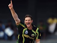 Shane Watson grabbed three wickets to help Australia defeat Ireland by seven wickets in a group B match of the World Twenty20 tournament in Colombo