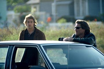 Scott Speedman as rookie Bobby Keough and Kurt Russell as Detective Eldon Perry in United Artists' Dark Blue