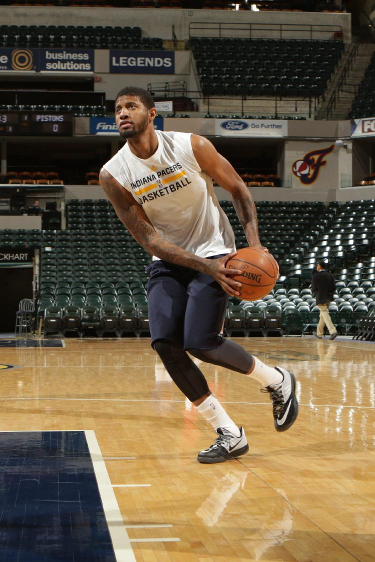 Pacers' George goes through 1st full practice since injury