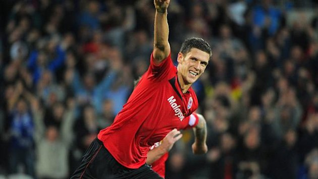 Captain Mark Hudson led by example with Cardiff's opening goal in a comfortable win