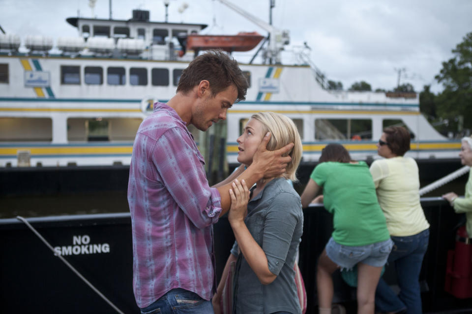"This film image released by Relativity Media shows Julianne Hough, right, and Josh Duhamel in a scene from ""Safe Haven."" (AP Photo/Relativity Media, James Bridges)"