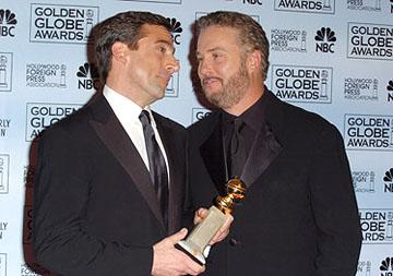 "Steve Carell with presenter William Petersen Best Actor in a Musical or Comedy Series - ""The Office"" 63rd Annual Golden Globe Awards - Press Room Beverly Hills, CA - 1/16/06"