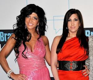 Teresa Giudice and Jacqueline Laurita attend the 2011 Bravo Upfront at 82 Mercer in New York City on March 30, 2011  -- Getty Premium