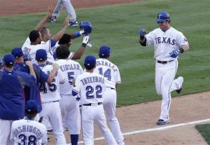 Hamilton homers in 13th, lifts Texas to win