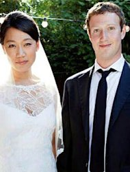 CEO Facebook Mark Zuckerberg Resmi Nikahi Priscilla Chan