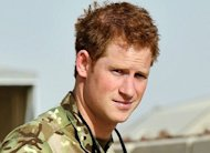 Prince Harry at Camp Bastion in Afghanistan. Harry is back in Afghanistan to serve as a military helicopter pilot four years after his previous deployment there had to be cut short