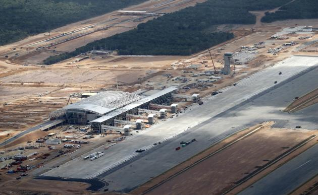 An aerial view shows the new Sao Goncalo do Amarante international airport, built in preparation for increased traffic during the 2014 soccer World Cup, in Natal