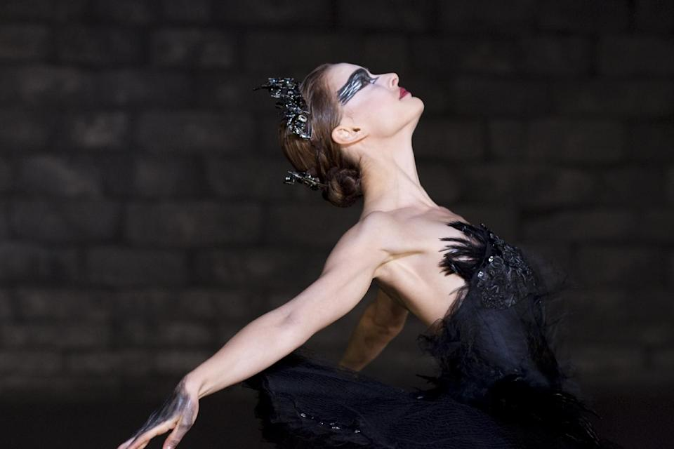 "In this film publicity image released by Fox Searchlight, Natalie Portman is shown in a scene from ""Black Swan."" The film garnered Portman an Oscar for best actress in 2011 for her role as Swan Queen Nina Sayers. (AP Photo/Fox Searchlight, Niko Tavernise)"