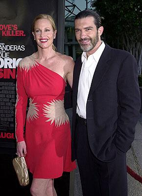 Melanie Griffith and Antonio Banderas at the L.A. premiere of MGM's Original Sin