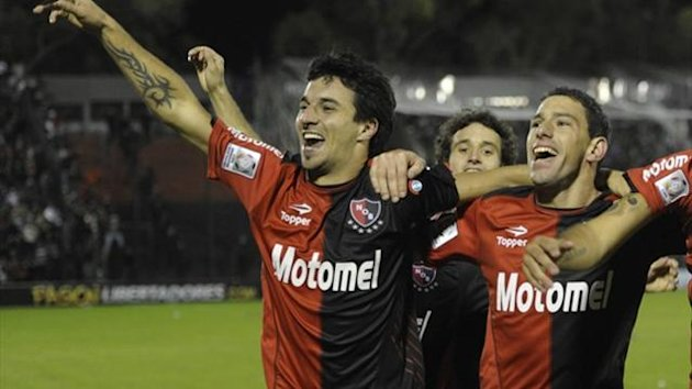 Newell's Old Boys players celebrate (AFP)