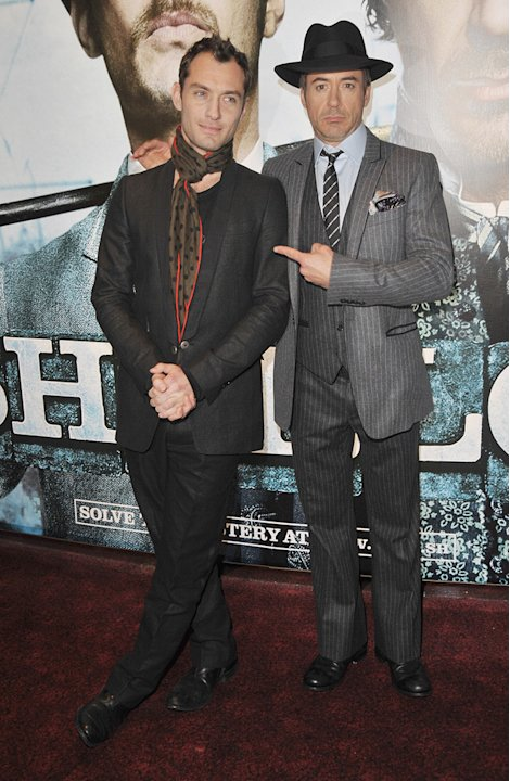 Sherlock Holmes UK Premiere 2009 Jude Law Robert Downey Jr.