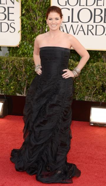 Debra Messing arrives at the 70th Annual Golden Globe Awards held at The Beverly Hilton Hotel on January 13, 2013 -- Getty Images