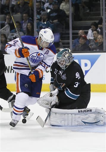 Sharks beat Oilers 3-2 in shootout to open 7-0