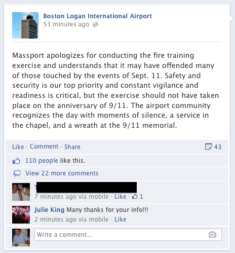 Boston logan airport 9/11 facebook
