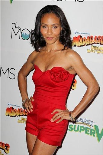 "This image released by Starpix shows actress Jada Pinkett Smith at a special screening of ""Madagascar 3: Europe's Most Wanted,"" hosted by Capri Sun Super V and The MOMS at the Paramount Pictures Scree"