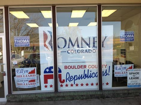 Observations from Republican Headquarters in Boulder, Colorado