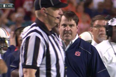 Will Muschamp got so f***ing angry, he helped cost Auburn 3 points in a close Iron Bowl