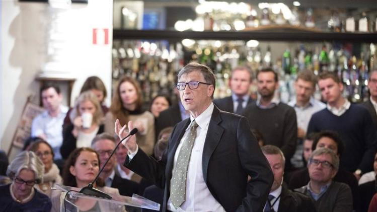 Bill Gates speaks at a breakfast meeting in Oslo