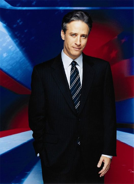 Jon Stewart hosts The Daily Show on Comedy Central. 