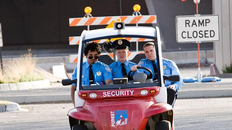 Seth Rogen Jesse Plemons Michael Pena Observe and Report Production Stills Warner Bros. 2009