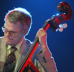 US Iowa born jazz musician Charlie Haden performs late 14 July 2005, at the Vitoria-Gasteiz Jazz Festival in the Spanish northern Basque city of Vitoria