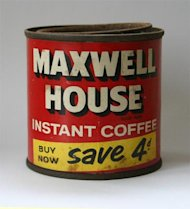 Marketing is About Making Connections, Not Instant Gratification image old maxwell house instant coffee tin 45372