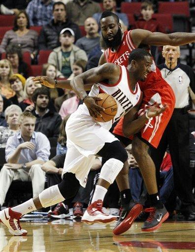 Blazers outlast Rockets for 119-117 OT victory