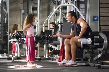 Madison Pettis and Dwayne 'The Rock' Johnson in Walt Disney Pictures' The Game Plan