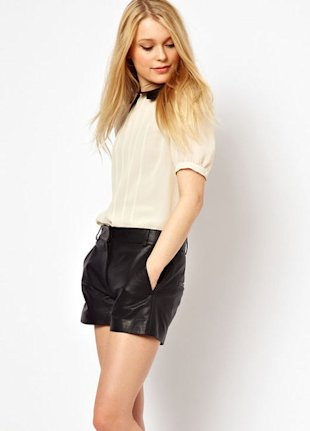 French Connection leather shorts, $297, asos.com