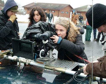 Director Courtney Hunt on the set of Sony Pictures Classics' Frozen River