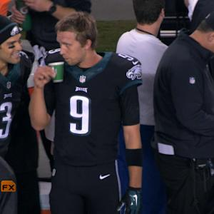 'Sound FX': Philadelphia Eagles quarterback Nick Foles and head coach Chip Kelly lead the team