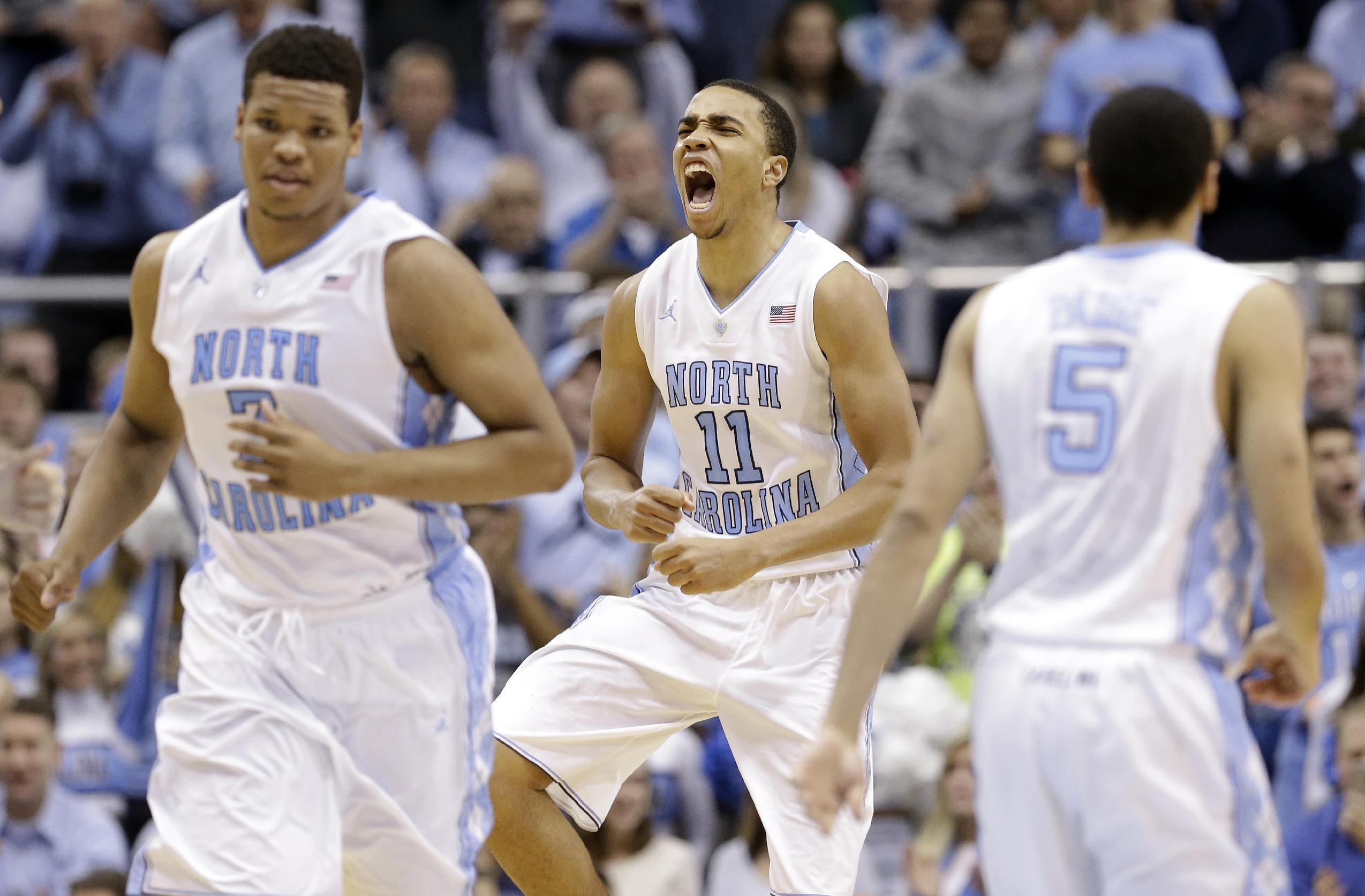 No. 13 North Carolina beats Syracuse 93-83 for 7-1 ACC start