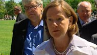 Alberta Premier Alison Redford said she plans to follow up with Thomas Lukaszuk about his Facebook post about a landslide in B.C.