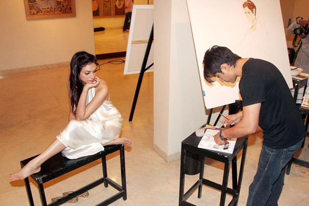 Ali Zafar and Aditi promote &amp;#39;LPNY&amp;#39;