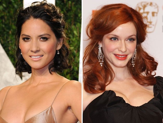 Olivia Munn / Christina Hendricks -- Getty Images