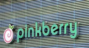 The Pinkberry logo is seen in Los Angeles