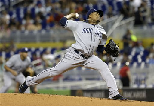 Padres beat Nolasco and Marlins 9-2