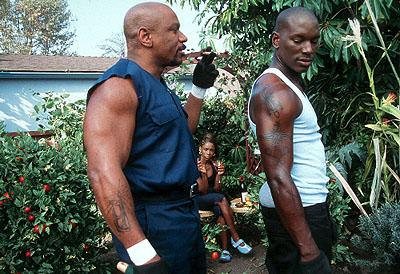 Ving Rhames and Tyrese Gibson in Columbia's Baby Boy