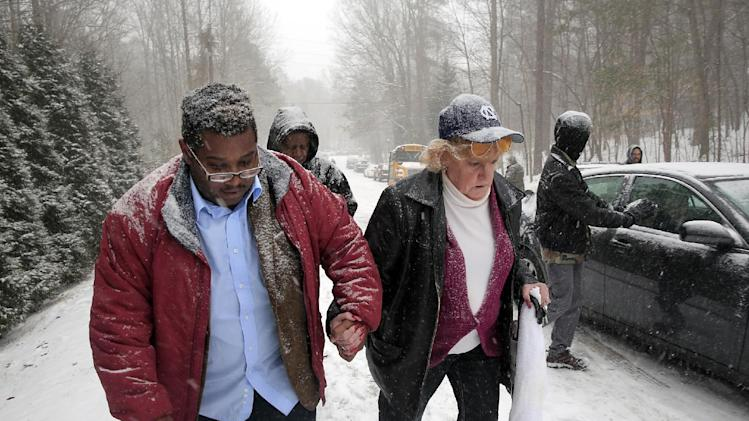 2014. second winter storm in two weeks pummeled South Carolina on