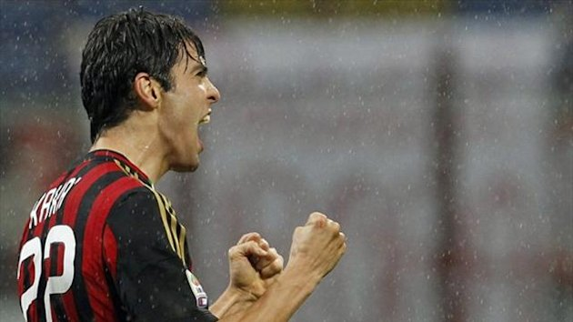 Milan's Kaka celebrates after scoring against Lazio (Reuters)
