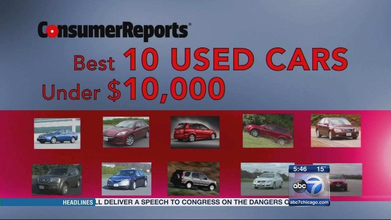 Consumer Reports: 10 used cars for under $10,000