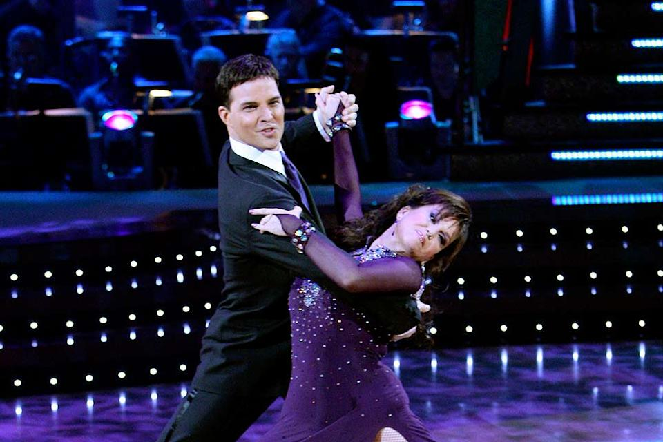 Jonathan Roberts and Marie Osmond perform a dance in the 5th season of Dancing with the Stars.