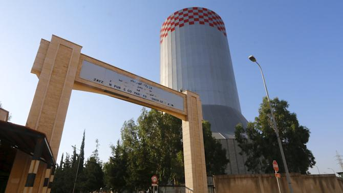Zeyzoun thermal station is pictured in al-Ghab plain in the Hama countryside