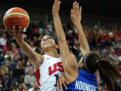 US women win 5th straight gold, top France 86-50